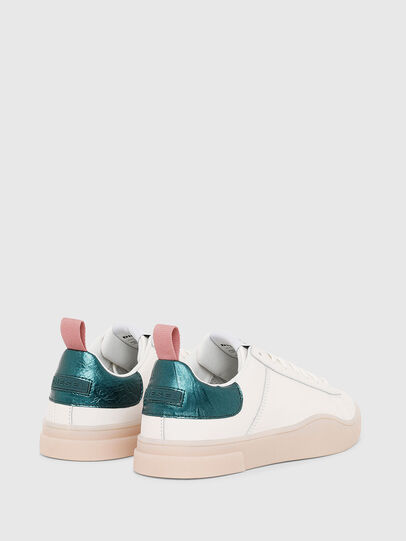 Diesel - S-CLEVER LOW LACE W, Bianco/Verde - Sneakers - Image 3