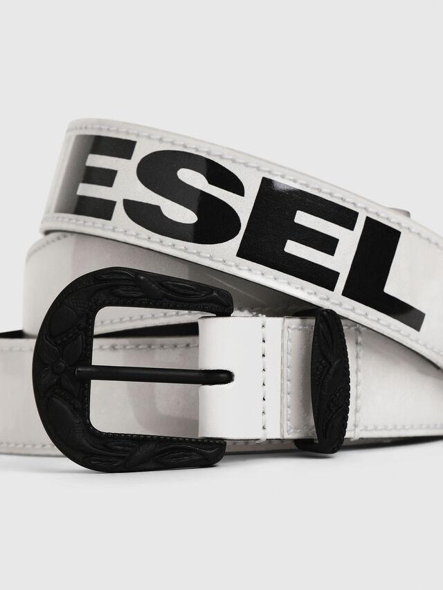 Diesel - B-STIC-F, Bianco/Nero - Cinture - Image 2
