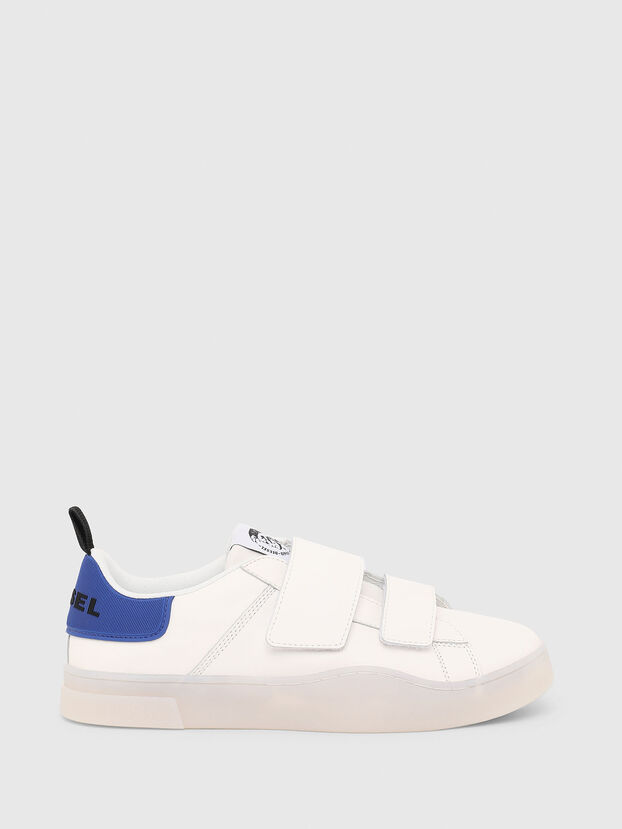 S-CLEVER LOW STRAP, Bianco/Blu - Sneakers