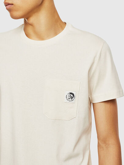 Diesel - T-WORKY-MOHI, Bianco - T-Shirts - Image 3