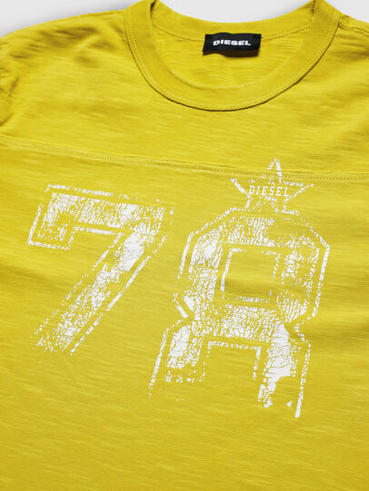 Diesel - TDIEGOCUTA, Giallo - T-shirts e Tops - Image 3