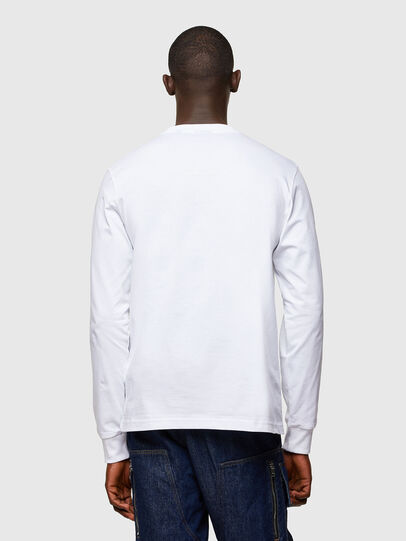 Diesel - T-JUST-LS-A10, Bianco - T-Shirts - Image 2