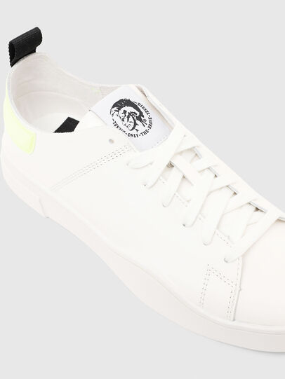 Diesel - S-CLEVER LS, Bianco/Giallo - Sneakers - Image 5