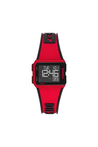 Orologio digitale Chopped in silicone rosso