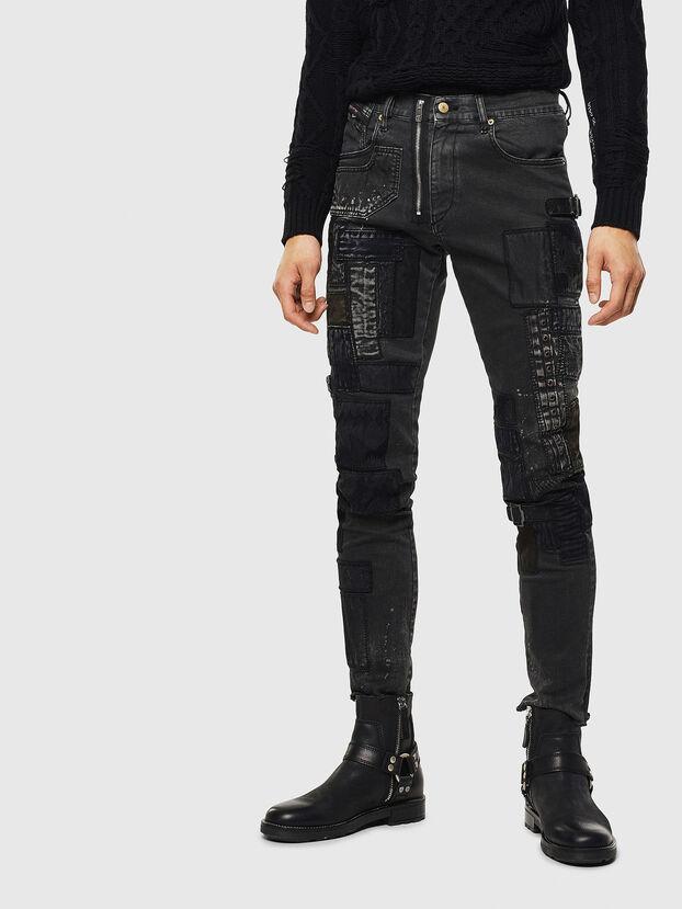 D-Strukt 0093P, Nero/Grigio scuro - Jeans