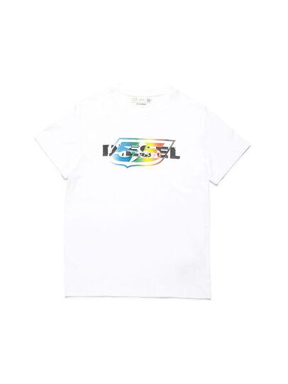 Diesel - D-55LOGO, Bianco - T-Shirts - Image 1