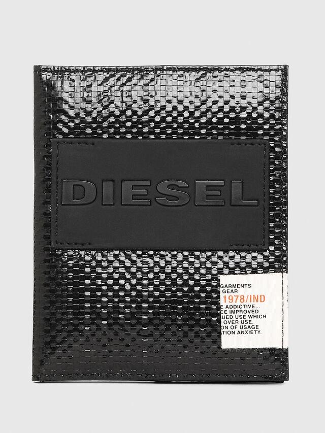 Diesel - PASSPORT, Nero/Giallo - Portafogli Continental - Image 1