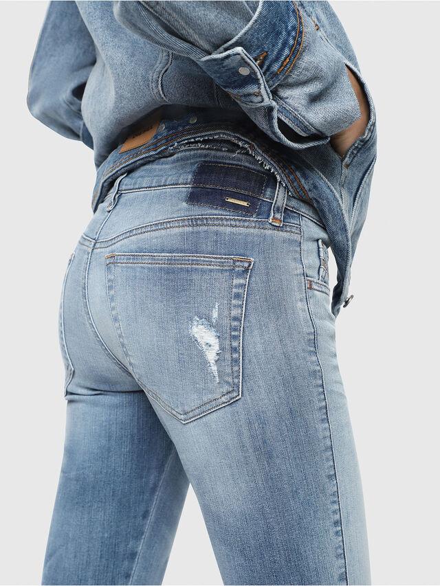 Diesel - Slandy Low 086AH, Blu Chiaro - Jeans - Image 3