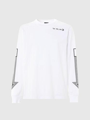 T-shirt a maniche lunghe con stampa frecce