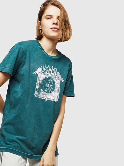 Diesel - T-FLAVIA-IC, Blu - T-Shirts - Image 4