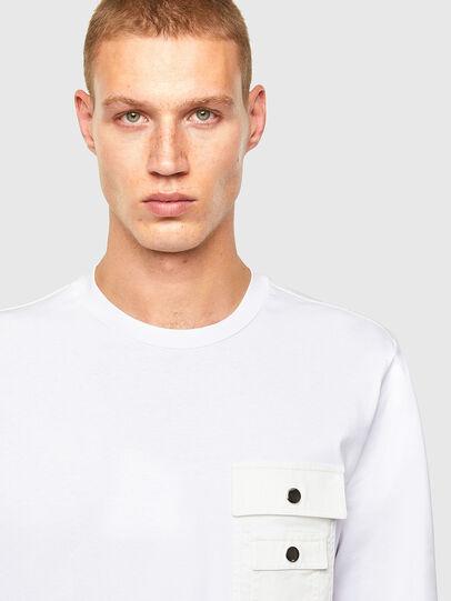 Diesel - T-TASK-LS, Bianco - T-Shirts - Image 3