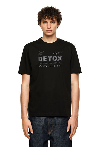 T-shirt con stampa a effetto puff in tinta
