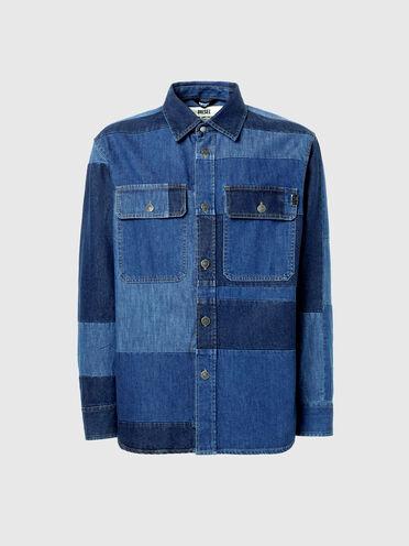 Camicia patchwork in denim