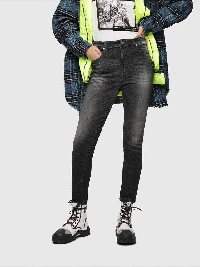 Diesel - Babhila High 089AA, Nero/Grigio scuro - Jeans - Image 1