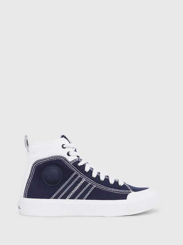 Diesel - S-ASTICO MID LACE W, Blu/Bianco - Sneakers - Image 1
