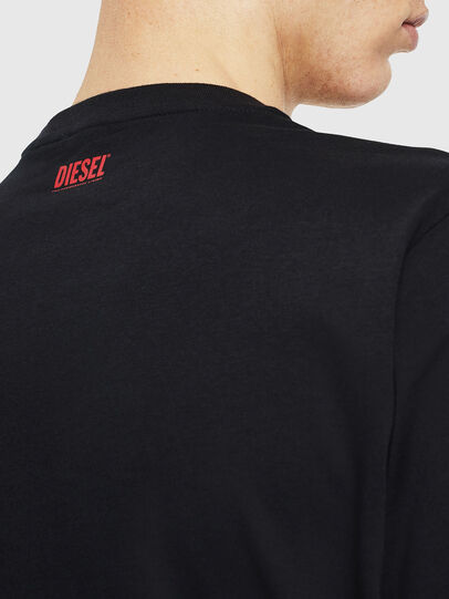 Diesel - T-JUST-J9, Nero/Rosso - T-Shirts - Image 5