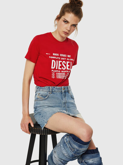 Diesel - T-SILY-ZF, Rosso Fuoco - T-Shirts - Image 4