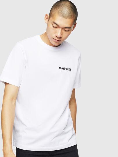 Diesel - T-JUST-B31, Bianco - T-Shirts - Image 1