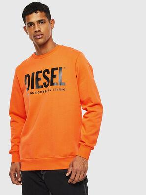 S-GIR-DIVISION-LOGO, Arancione - Felpe