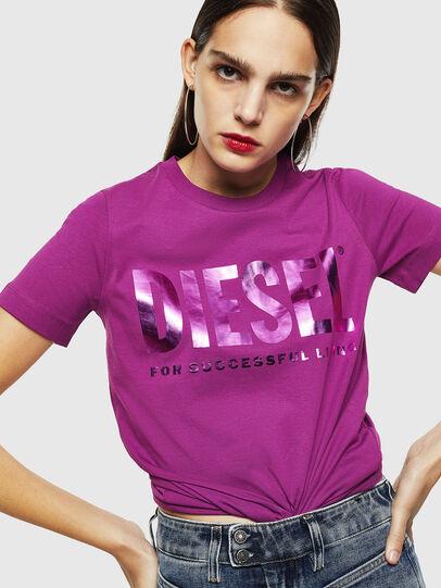 Diesel - T-SILY-WX, Viola - T-Shirts - Image 4