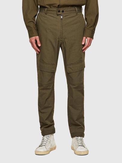 Diesel - P-SIDE, Verde Militare - Pantaloni - Image 1