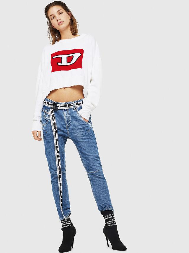 Diesel - Fayza JoggJeans 0870K, Blu Chiaro - Jeans - Image 5