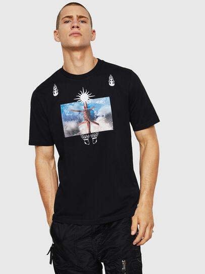Diesel - T-JUST-B28, Nero - T-Shirts - Image 1