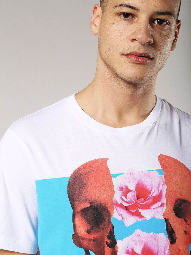 Diesel - T-JUST-SW, Bianco - T-Shirts - Image 5