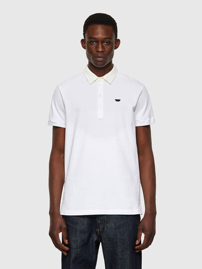 Diesel - T-MILES-NEW, Bianco - Polo - Image 1