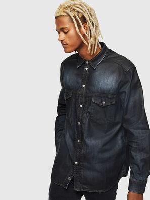 D-BANDY-B, Blu Scuro - Camicie in Denim