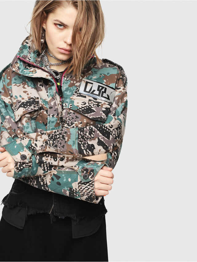 Diesel - G-SHILOH-A, Verde Camo - Giacche - Image 1