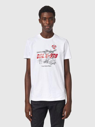 Diesel - T-DIEGOS-B82, Bianco - T-Shirts - Image 1