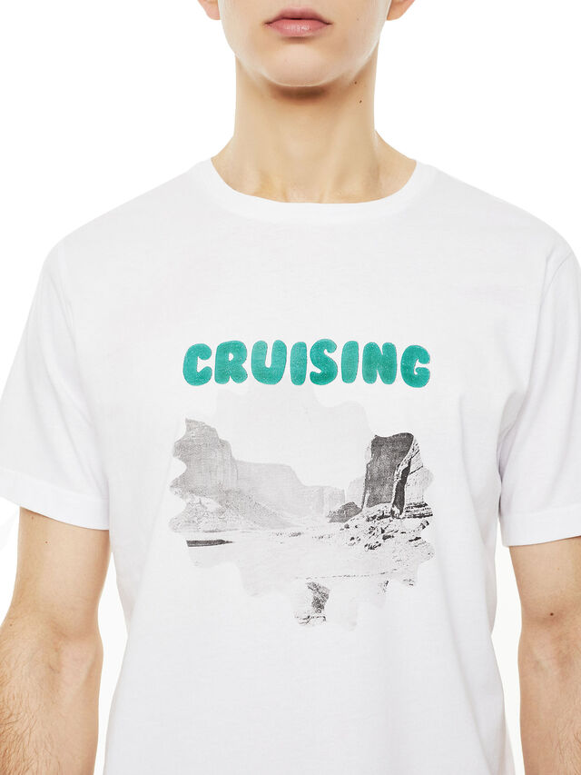 Diesel - TY-CRUISING, Bianco - T-Shirts - Image 3