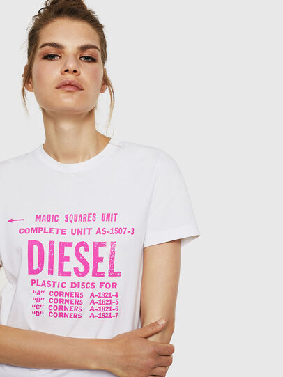 Diesel - T-SILY-ZF, Bianco - T-Shirts - Image 3