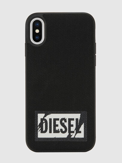 Diesel - BLACK DENIM IPHONE X CASE, Nero - Cover - Image 2