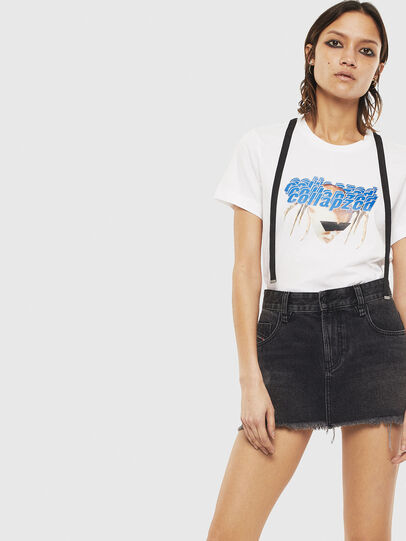 Diesel - T-SILY-S3, Bianco - T-Shirts - Image 4