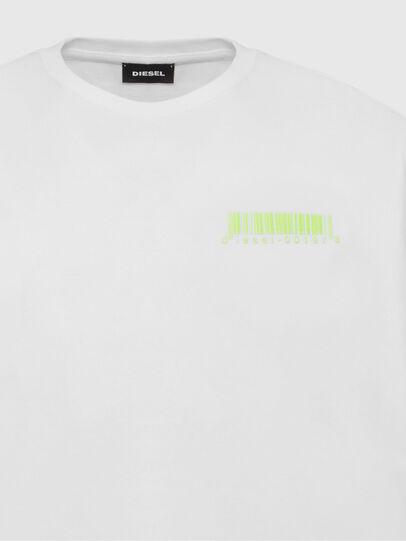 Diesel - T-JUST-SLITS-X84, Bianco - T-Shirts - Image 3