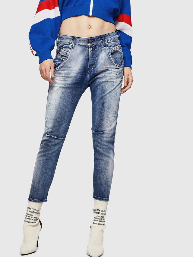 Diesel - Fayza JoggJeans 0870N, Blu medio - Jeans - Image 1