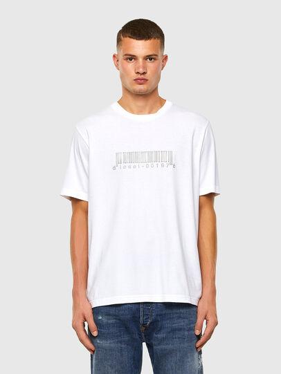 Diesel - T-JUST-SLITS-X85, Bianco - T-Shirts - Image 5