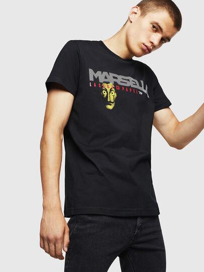 Diesel - LCP-T-DIEGO-MARSELLA, Nero - T-Shirts - Image 1