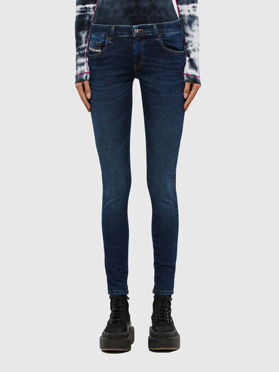 Diesel - Slandy Low 069PX, Blu Scuro - Jeans - Image 1