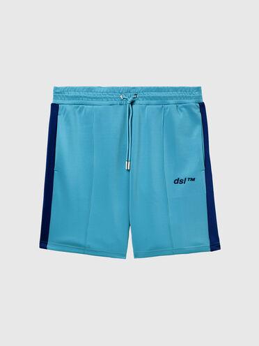 Shorts Green Label in tessuto scuba leggero