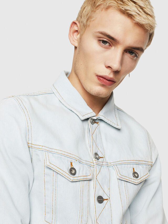 Diesel - D-GALY-F, Blu Jeans - Giacche in denim - Image 3
