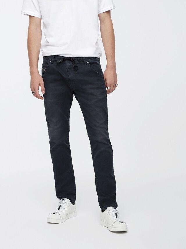 Diesel - Krooley JoggJeans 0670M, Blu Scuro - Jeans - Image 1