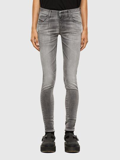Diesel - Slandy Low 009FD, Grigio Chiaro - Jeans - Image 1