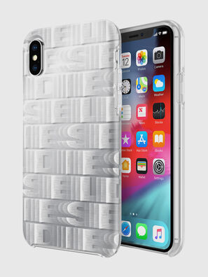 DIESEL PRINTED CO-MOLD CASE FOR IPHONE XS & IPHONE X, Bianco - Cover