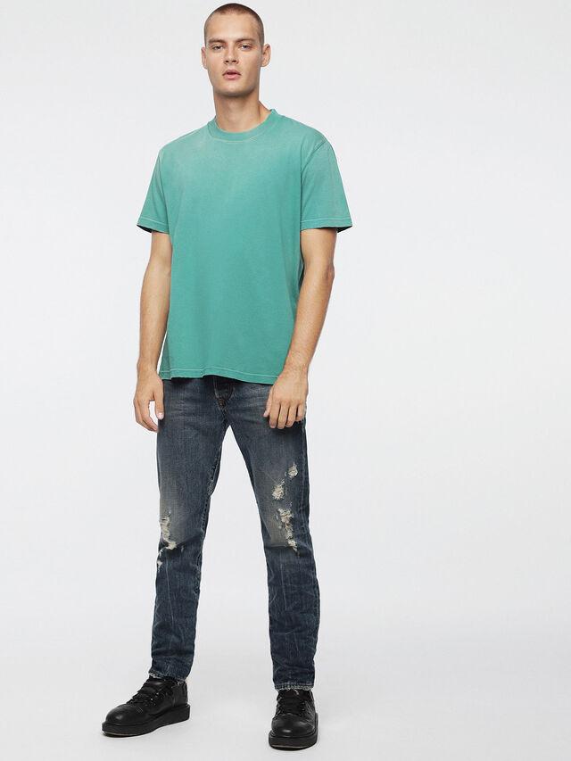 Diesel - T-JOEY-T, Verde Acqua - T-Shirts - Image 4