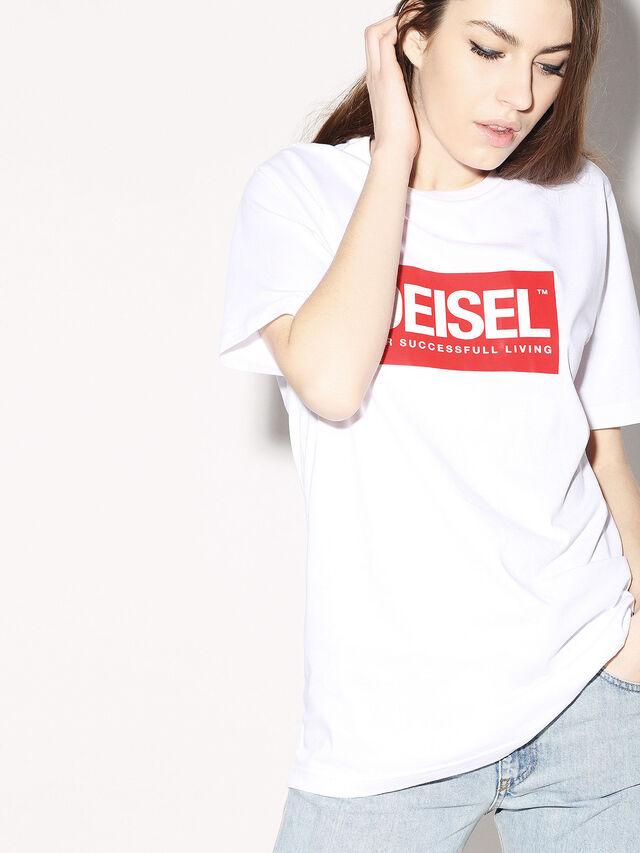 Diesel - DEIS-JUST, Bianco - T-Shirts - Image 6