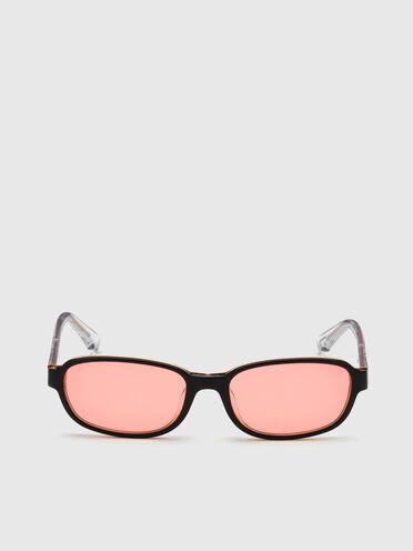 Occhiali con shape mini rettangolare in acetato