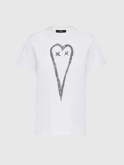 Diesel - T-SILY-E53, Bianco - T-Shirts - Image 1